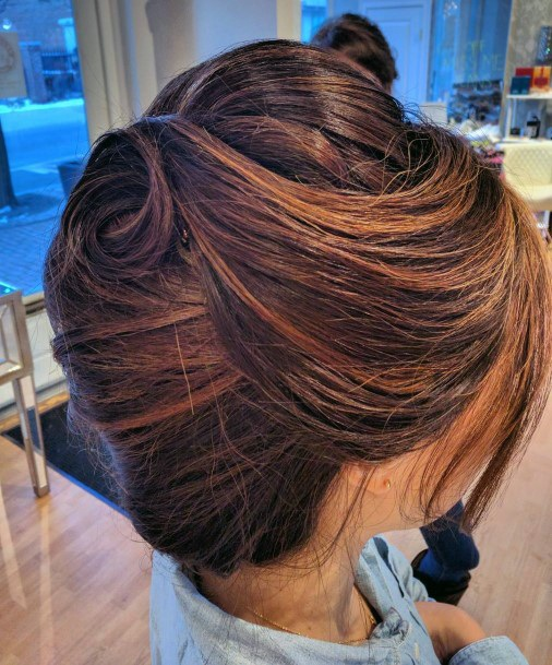 Horn Style French Twist With Loose Bangs For Girls And Women