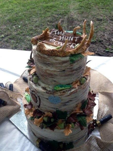 Hunting Theme Camo Wedding Cakes
