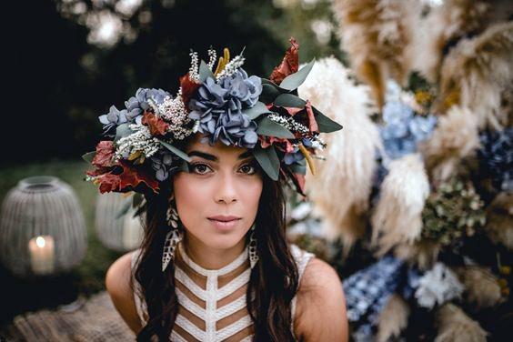 Hydrangea Wedding Flowers Head Band