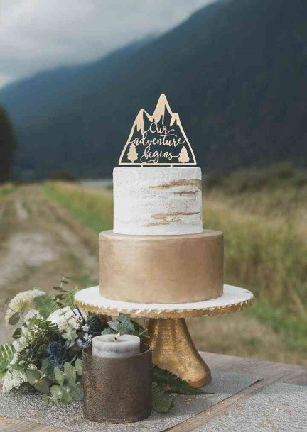 Icy Hill Rustic Wedding Cake Toppers