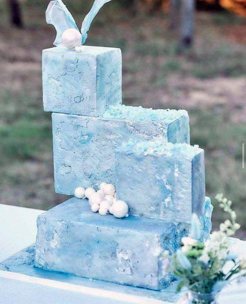Icy Square Wedding Cake