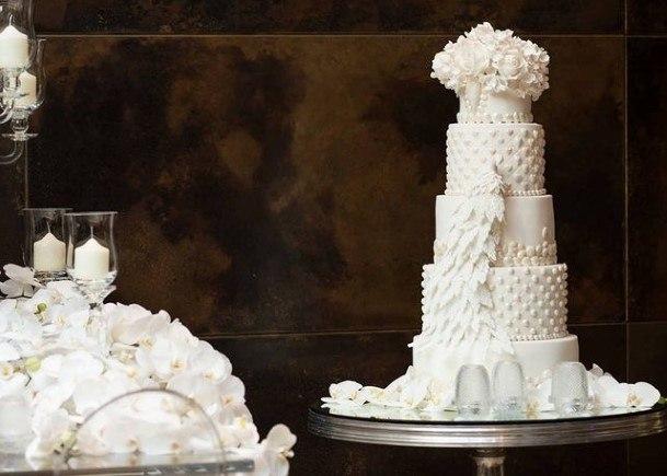Imperial White Wedding Cake