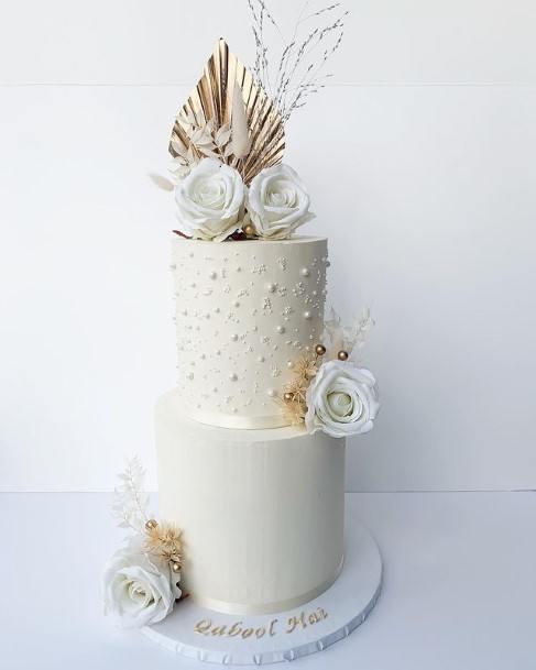 Imposing White Wedding Cake