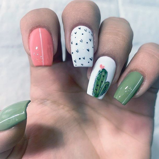 Impressive Cactus Nails Women