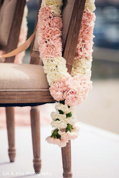 Indian Wedding Flowers Chair Decorations Garlands Art