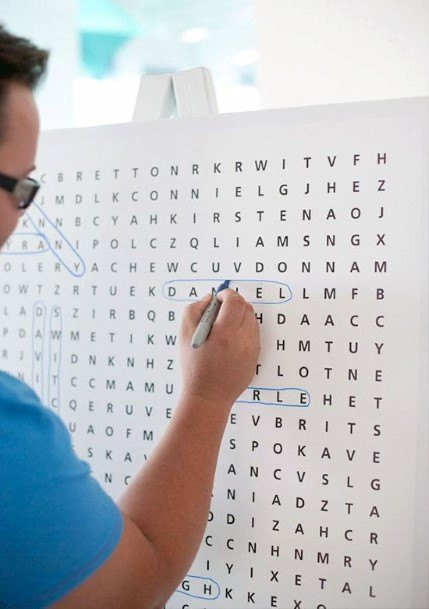 Interactive Name Word Search Wedding Guest Book Ideas