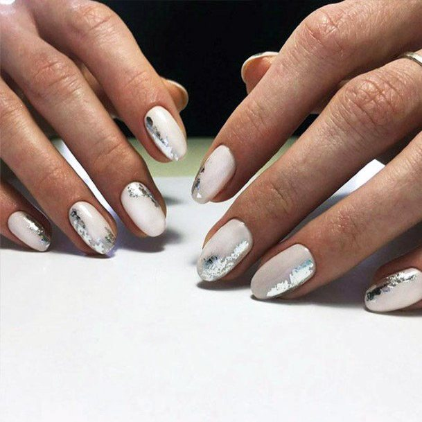 Iridescent Chrome Nails Women