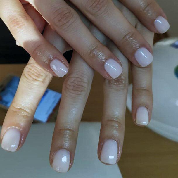Ivory White Short Nail Ideas Women