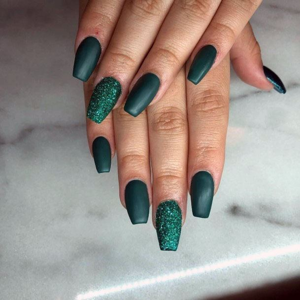 Jade Green Sugar Nails Women