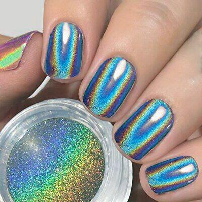 Jazzy Blue Iridescent Nails Women