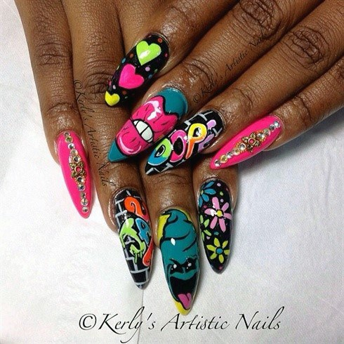 Jazzy Colorful Nail Ideas For Women