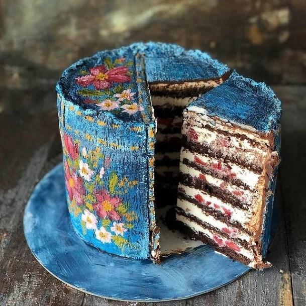 Jean Blue Chocolate Wedding Cake