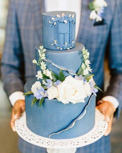 Jean Blue Wedding Cake
