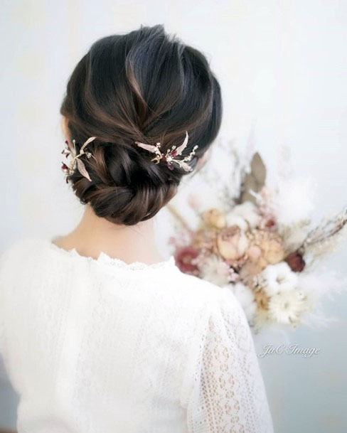 Jewelled Chignon Hairstyle For Women