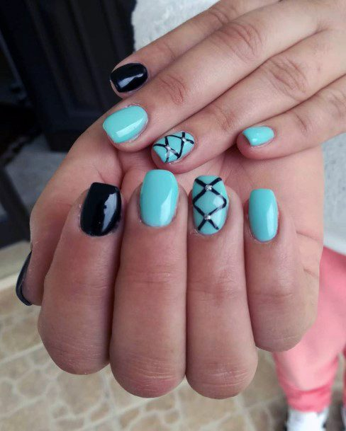 Jewelled Turquoise Nails