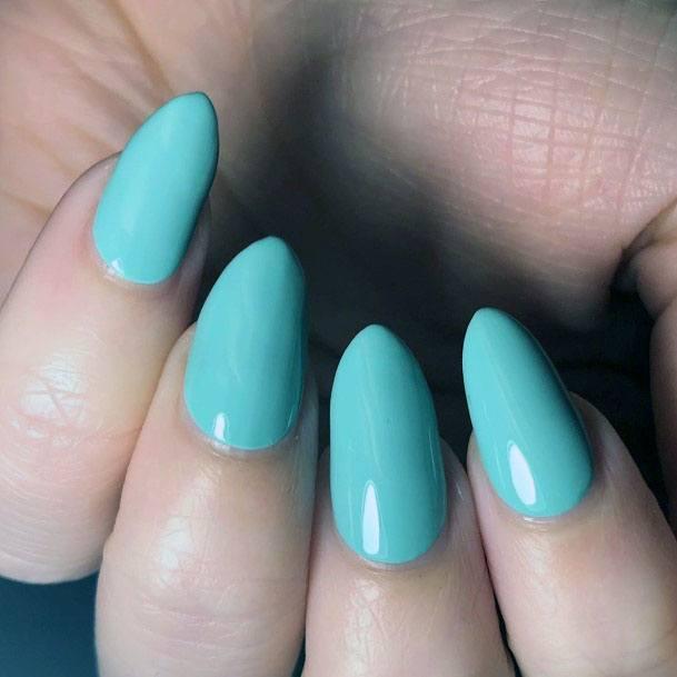 Juicy Mint Green Nails Women