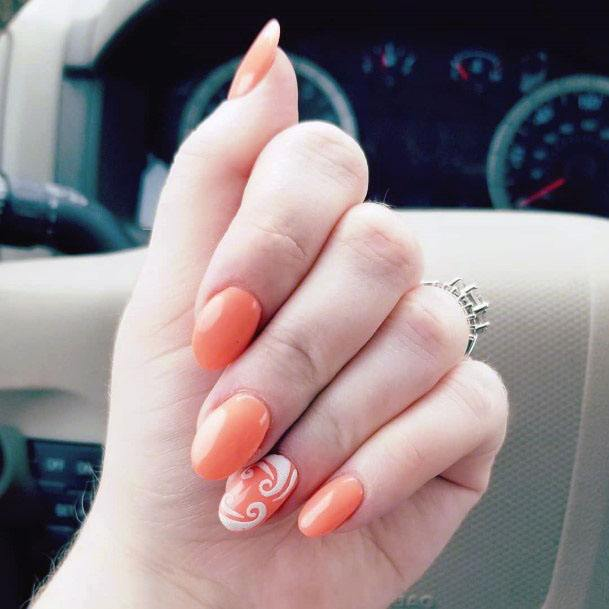 Juicy Orange Sugar Nails For Women