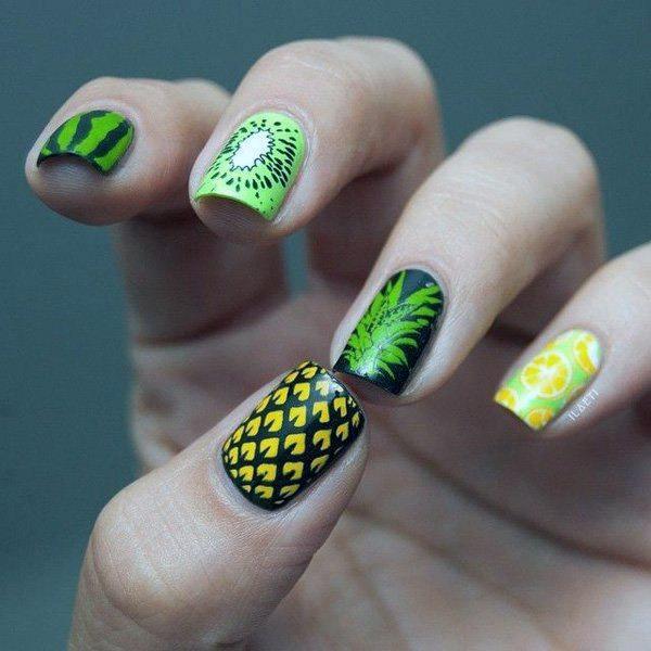 Juicy Tropical Nails Women