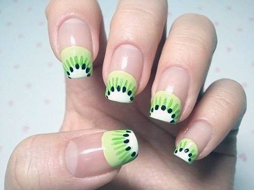 Kiwi French Manicure Nails Women