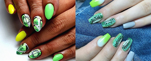 Top 60 Best Kiwi Nails For Women – Juicy Manicure Designs