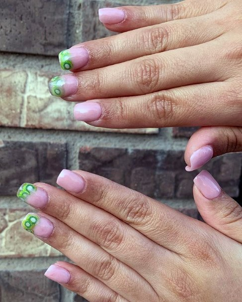 Kiwi Tipped Nails For Wome