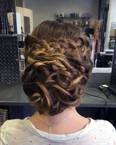 Knotty Braided Chignon Hairstyle Women