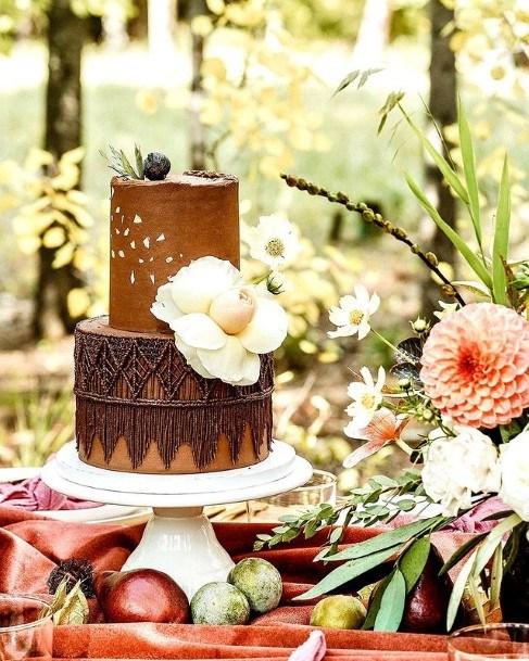 Lace Art Chocolate Wedding Cake