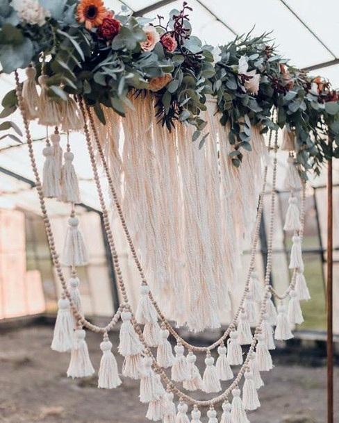 Lacy Boho Wedding Flowers