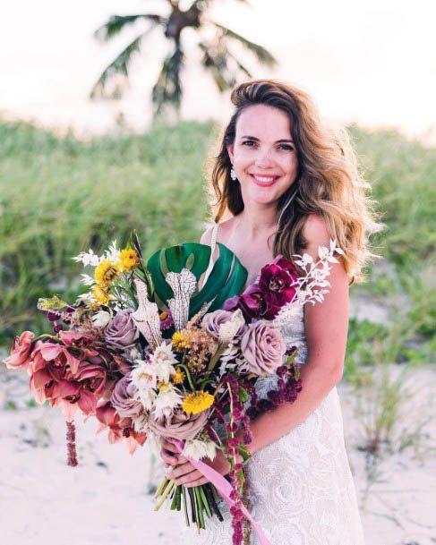 Large Beach Wedding Flowers Bouquet