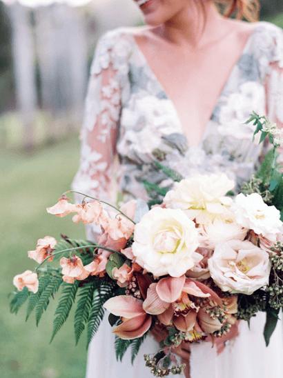 Large Blush Rose Flowers Wedding