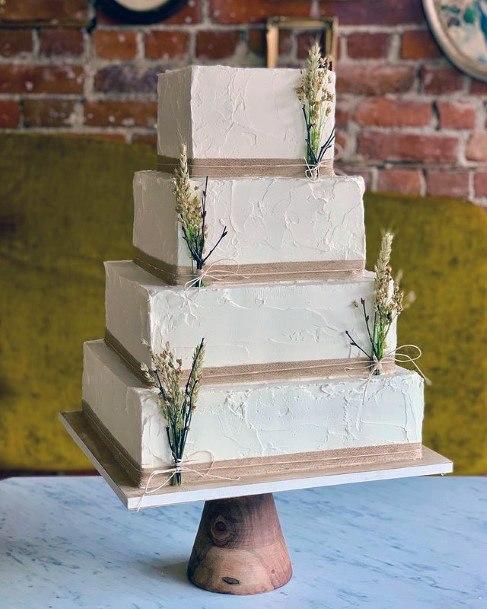 Large Square Wedding Cake