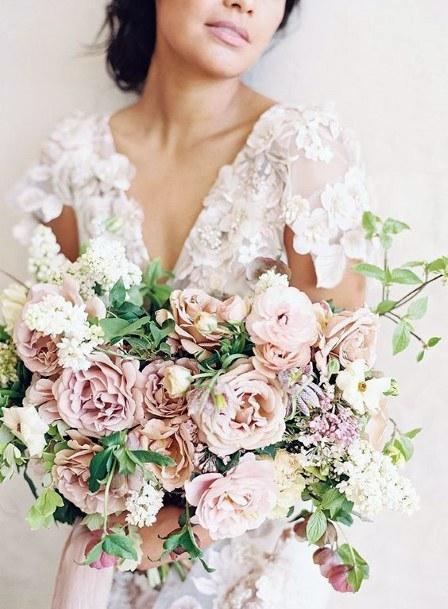 Lavender And Blush Wedding Flowers