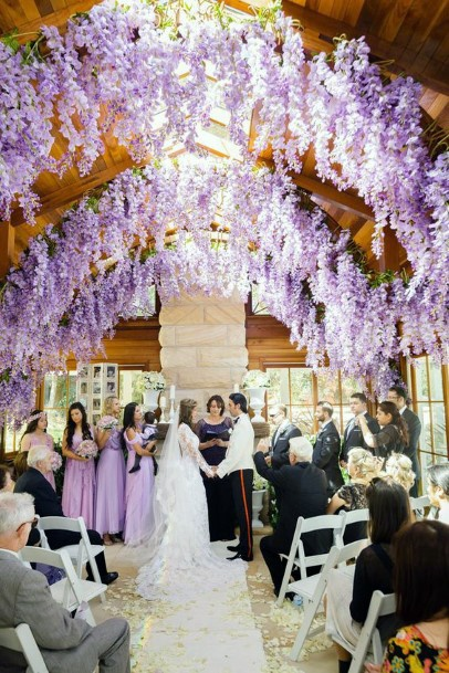 Lavender Ceiling Design Wedding Flowers