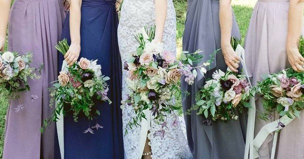 Lavender Flower Bouquet At Wedding