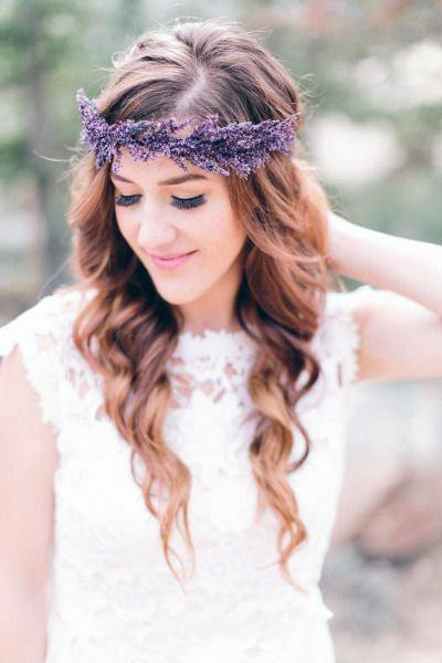 Lavender Flowers Wedding Crown