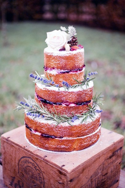 Lavender On Wedding Cake Flowers