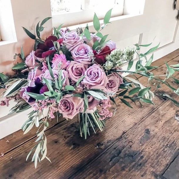 Lavender Roses Arrangement Wedding