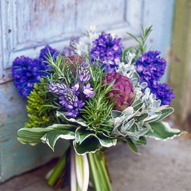 Lavender Wedding Flowers Bunch Art