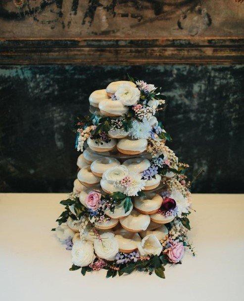 Layered Donut Wedding Cake