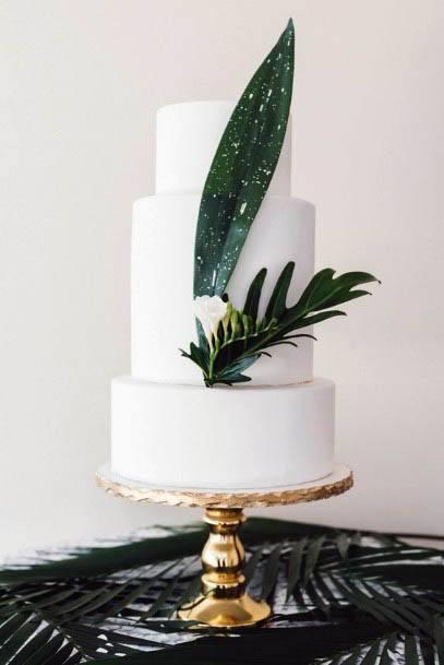 Leaf Art Beach Wedding Flowers And Cake
