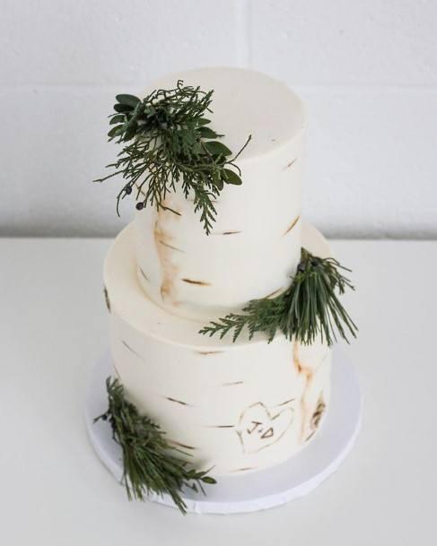Leafy 2 Tier Wedding Cake