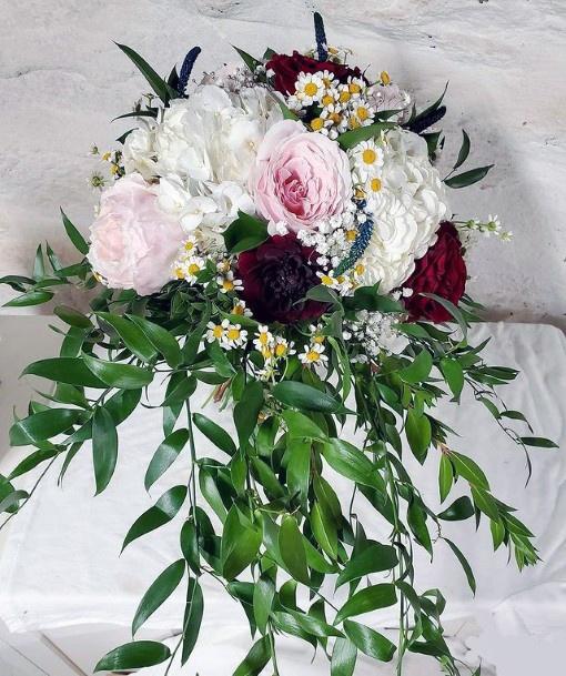 Leafy Hydrangea Wedding Flowers
