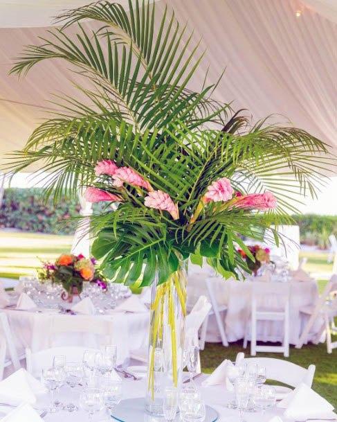 Leafy Palm Beach Wedding Flowers