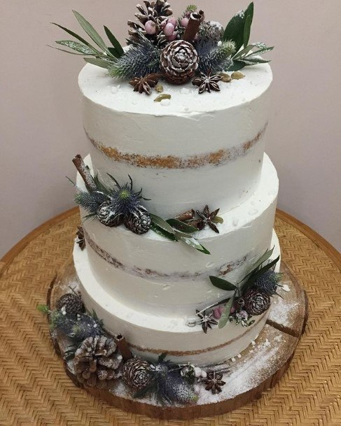 Leaves And Acorn Rustic Wedding Cake Toppers