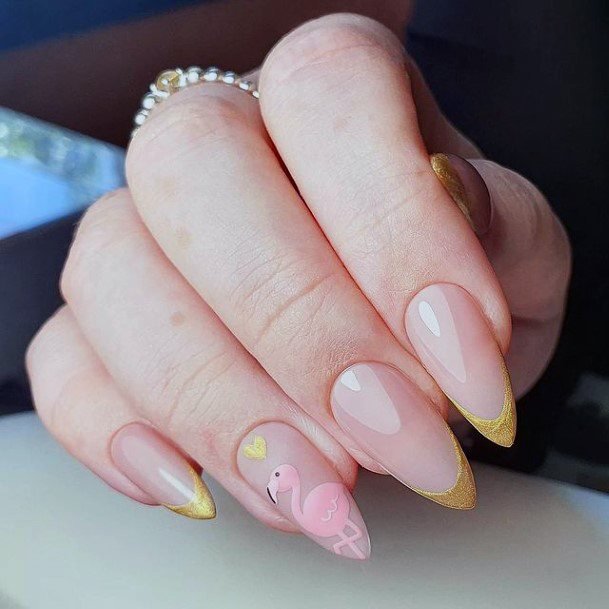Light And Breezy Flamingo Nails Women