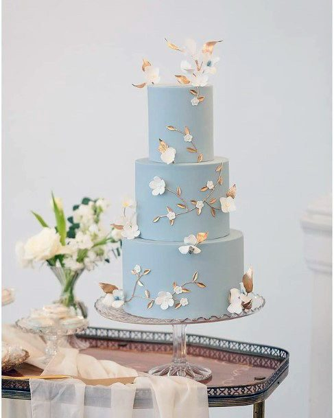 Light And Pleasing Blue Wedding Cake