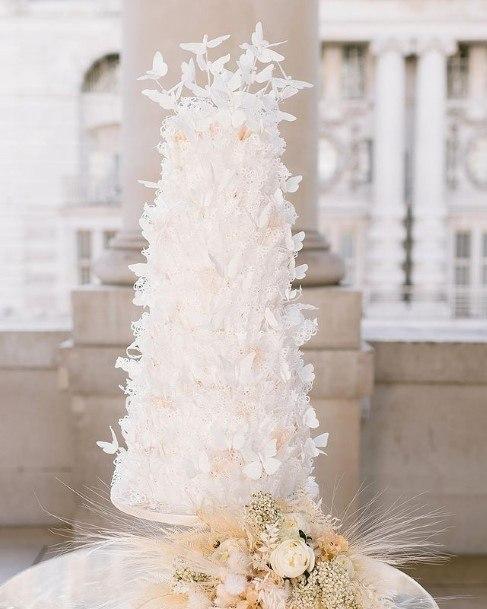 Light Angelic White Beautiful Wedding Cake