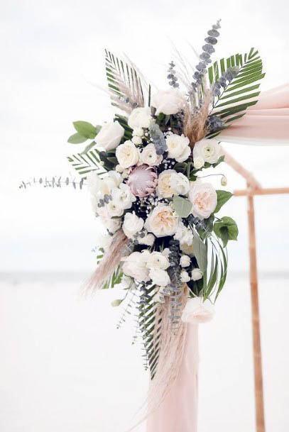 Light Beach Wedding Flowers