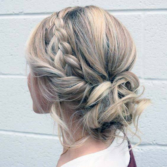 Light Blonde Female Easy Pullback Into Low Messy Bun Hairstyles For Women