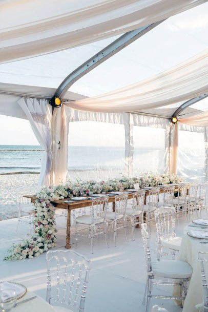Light Breezy Beach Wedding Decor